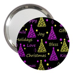 New Year Pattern   Yellow And Purple 3  Handbag Mirrors by Valentinaart