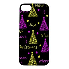 New Year Pattern   Yellow And Purple Apple Iphone 5s/ Se Hardshell Case by Valentinaart