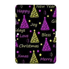 New Year Pattern   Yellow And Purple Samsung Galaxy Tab 2 (10 1 ) P5100 Hardshell Case  by Valentinaart