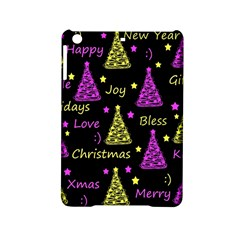 New Year Pattern   Yellow And Purple Ipad Mini 2 Hardshell Cases by Valentinaart
