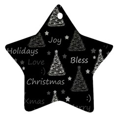 New Year Pattern   Gray Ornament (star)  by Valentinaart