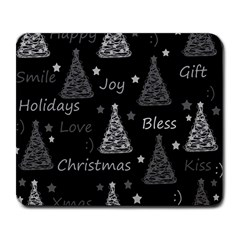 New Year Pattern   Gray Large Mousepads by Valentinaart