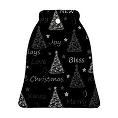 New Year Pattern   Gray Bell Ornament (2 Sides)