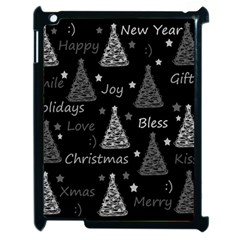New Year Pattern   Gray Apple Ipad 2 Case (black) by Valentinaart