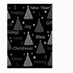 New Year Pattern   Gray Large Garden Flag (two Sides) by Valentinaart