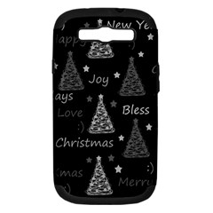 New Year Pattern   Gray Samsung Galaxy S Iii Hardshell Case (pc+silicone) by Valentinaart