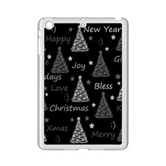 New Year Pattern   Gray Ipad Mini 2 Enamel Coated Cases by Valentinaart