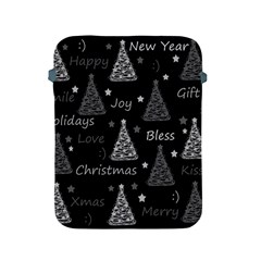 New Year Pattern   Gray Apple Ipad 2/3/4 Protective Soft Cases by Valentinaart