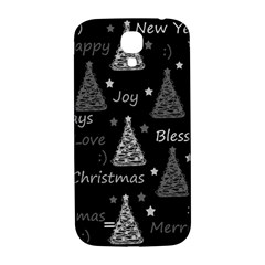 New Year Pattern   Gray Samsung Galaxy S4 I9500/i9505  Hardshell Back Case by Valentinaart