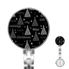 New Year Pattern   Gray Stainless Steel Nurses Watch by Valentinaart