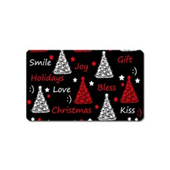 New Year Pattern   Red Magnet (name Card)