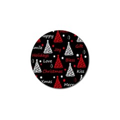 New Year Pattern   Red Golf Ball Marker (10 Pack) by Valentinaart