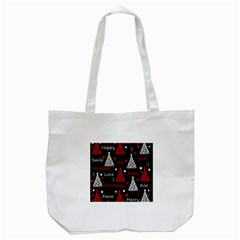 New Year Pattern   Red Tote Bag (white) by Valentinaart