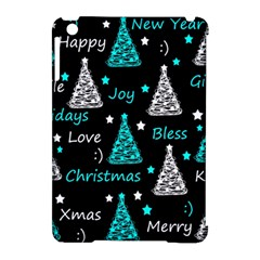 New Year Pattern   Cyan Apple Ipad Mini Hardshell Case (compatible With Smart Cover) by Valentinaart