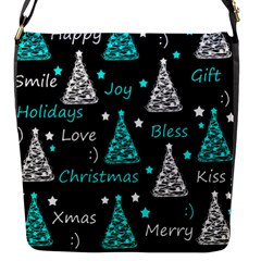 New Year Pattern   Cyan Flap Messenger Bag (s) by Valentinaart