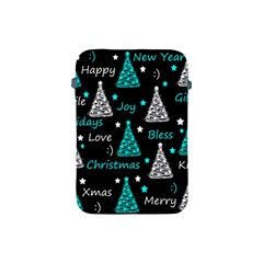 New Year Pattern   Cyan Apple Ipad Mini Protective Soft Cases by Valentinaart