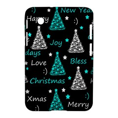 New Year Pattern   Cyan Samsung Galaxy Tab 2 (7 ) P3100 Hardshell Case  by Valentinaart