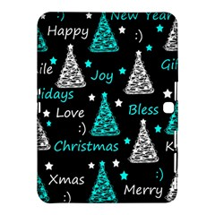 New Year Pattern   Cyan Samsung Galaxy Tab 4 (10 1 ) Hardshell Case  by Valentinaart
