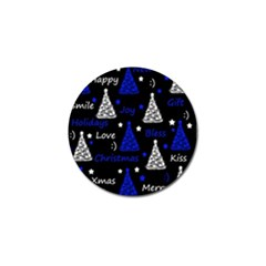New Year Pattern   Blue Golf Ball Marker (10 Pack) by Valentinaart