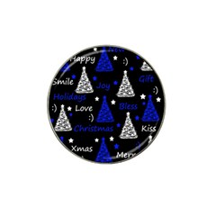 New Year Pattern   Blue Hat Clip Ball Marker by Valentinaart