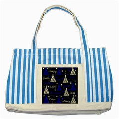 New Year Pattern   Blue Striped Blue Tote Bag