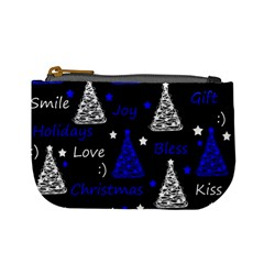 New Year Pattern   Blue Mini Coin Purses