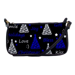 New Year Pattern   Blue Shoulder Clutch Bags