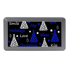 New Year Pattern   Blue Memory Card Reader (mini) by Valentinaart