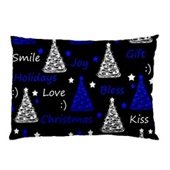 New Year Pattern   Blue Pillow Case (two Sides) by Valentinaart
