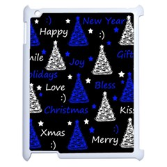New Year Pattern   Blue Apple Ipad 2 Case (white) by Valentinaart