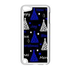 New Year Pattern   Blue Apple Ipod Touch 5 Case (white) by Valentinaart