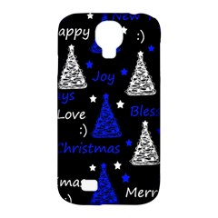 New Year Pattern   Blue Samsung Galaxy S4 Classic Hardshell Case (pc+silicone) by Valentinaart