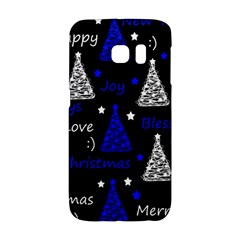 New Year Pattern   Blue Galaxy S6 Edge by Valentinaart