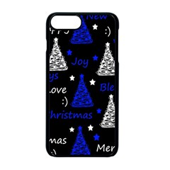 New Year Pattern   Blue Apple Iphone 7 Plus Seamless Case (black) by Valentinaart