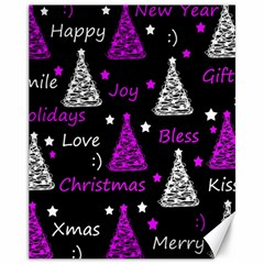 New Year Pattern   Purple Canvas 11  X 14   by Valentinaart
