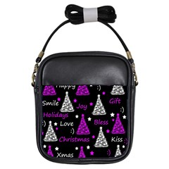 New Year Pattern   Purple Girls Sling Bags by Valentinaart