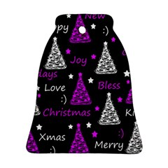 New Year Pattern   Purple Bell Ornament (2 Sides) by Valentinaart