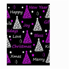 New Year Pattern   Purple Small Garden Flag (two Sides)