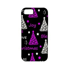 New Year Pattern   Purple Apple Iphone 5 Classic Hardshell Case (pc+silicone) by Valentinaart
