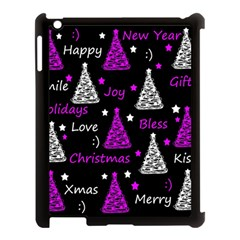 New Year Pattern   Purple Apple Ipad 3/4 Case (black) by Valentinaart