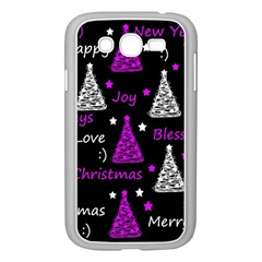 New Year Pattern   Purple Samsung Galaxy Grand Duos I9082 Case (white) by Valentinaart