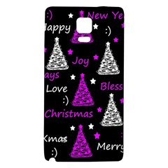 New Year Pattern   Purple Galaxy Note 4 Back Case by Valentinaart