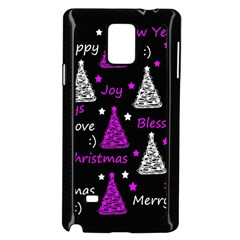 New Year Pattern - Purple Samsung Galaxy Note 4 Case (black) by Valentinaart