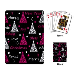 New Year Pattern   Magenta Playing Card by Valentinaart