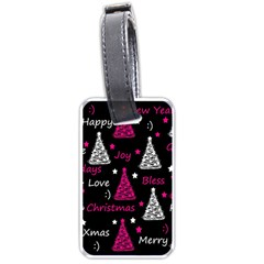 New Year Pattern   Magenta Luggage Tags (two Sides) by Valentinaart
