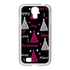 New Year Pattern   Magenta Samsung Galaxy S4 I9500/ I9505 Case (white) by Valentinaart