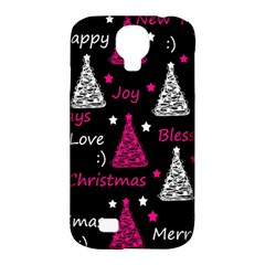 New Year Pattern   Magenta Samsung Galaxy S4 Classic Hardshell Case (pc+silicone) by Valentinaart