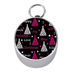 New Year Pattern   Magenta Mini Silver Compasses by Valentinaart
