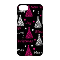 New Year Pattern   Magenta Apple Iphone 7 Hardshell Case by Valentinaart
