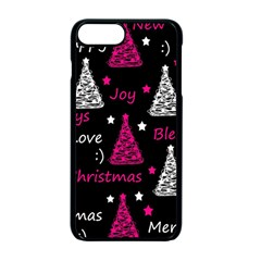 New Year Pattern   Magenta Apple Iphone 7 Plus Seamless Case (black) by Valentinaart